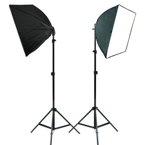2pcs Photo Studio Lighting Softbox Photography Equipment Studio Light Box Stand   eBay