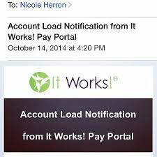 Image result for It Works pay portal notification