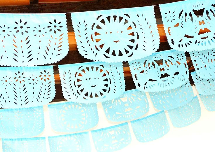 Papel picado first birthday, 5 Pack banners, 60 feet long banner, Fiesta Decorations Garland, Mexican Party Supplies, Mexican Bridal shower banner