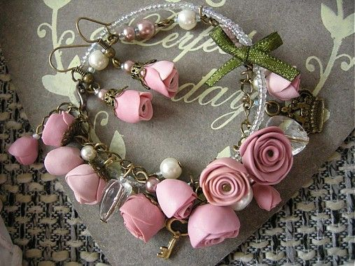 Set náramok a náušnice Princeznine ruže