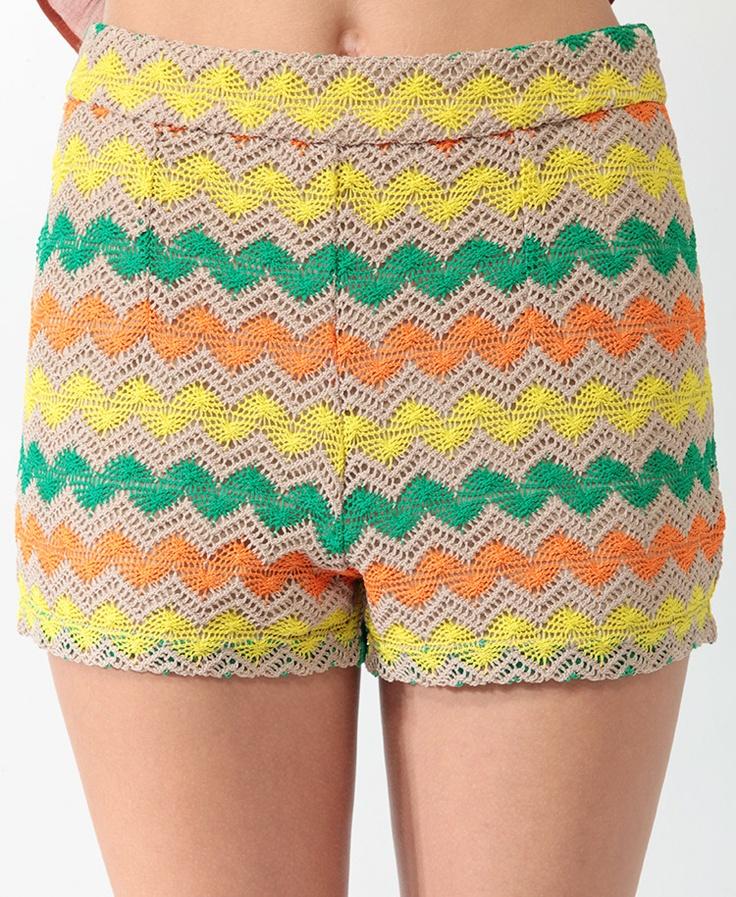 #HippieChic Love my new crochet zig zag shorts, only $15!!!