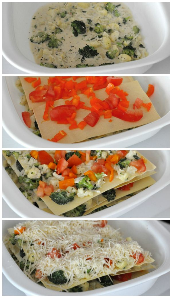 Vegetable Lasagna With White Sauce Casserole Recipe