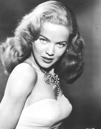 Travilla's wife, the stunning Dona Drake wearing a Joseff Hollywood Necklace.  See beautiful pics like this in soon to be released Joseff of Hollywood book...  Pre-order Joseff of Hollywood: Putting the Tinsel in Tinseltown  By Michele Joseff www.joseffofhollywoodbook.com