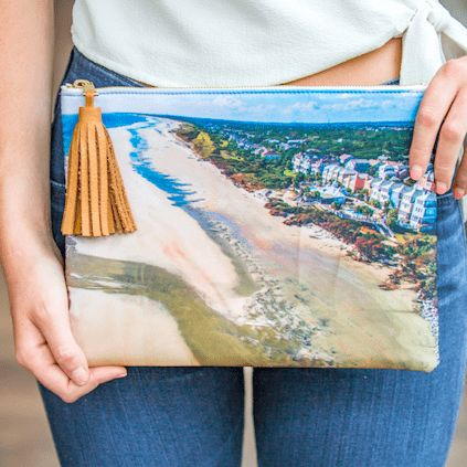 Beau & Ro Charleston Charleston Photo Collection | The Isle of Palms CHARLESTON ON THE MIND, these clutches feature photographs from around Charleston, all shot by photographer Mary Beth Thomas.