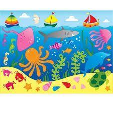 Resultado de imagem para convite de aniversário para imprimir fundo do mar