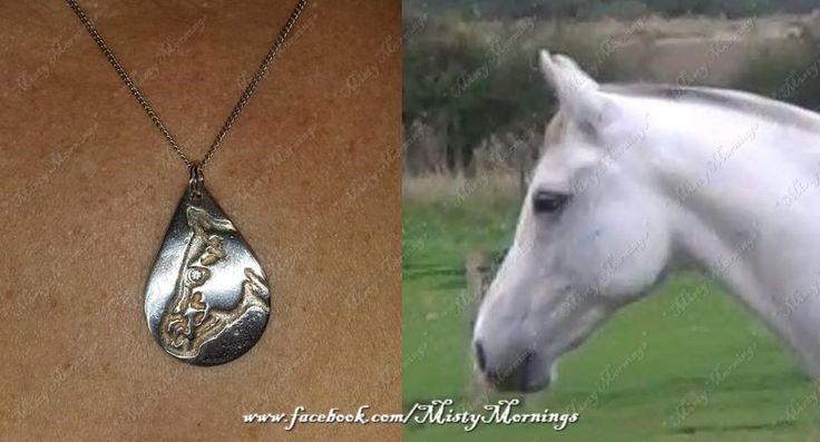 solid silver pendant personalised to your own horse www.facebook.com/MistyMornings