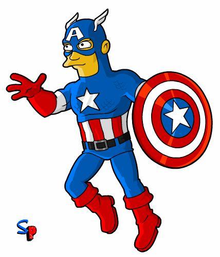 Capitan America - version Simpson