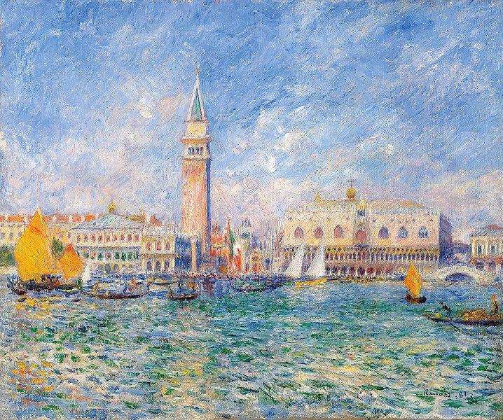 Vue de Venise (Le Palais des Doges), Pierre Auguste Renoir, 1881
