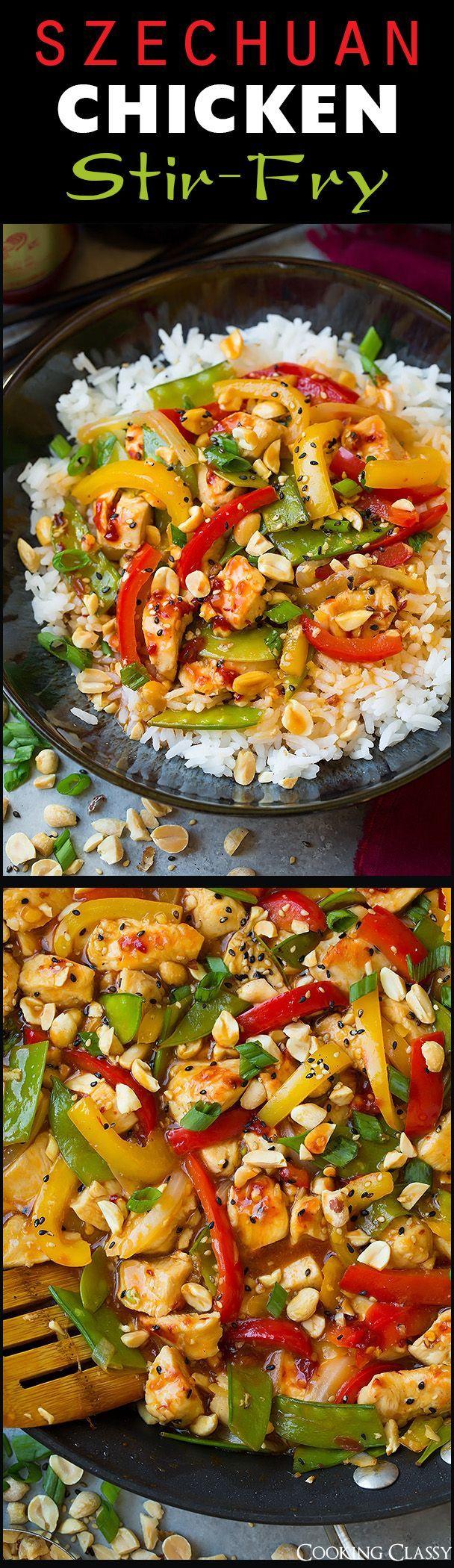 Szechuan Chicken Stir-Fry - Cooking Classy