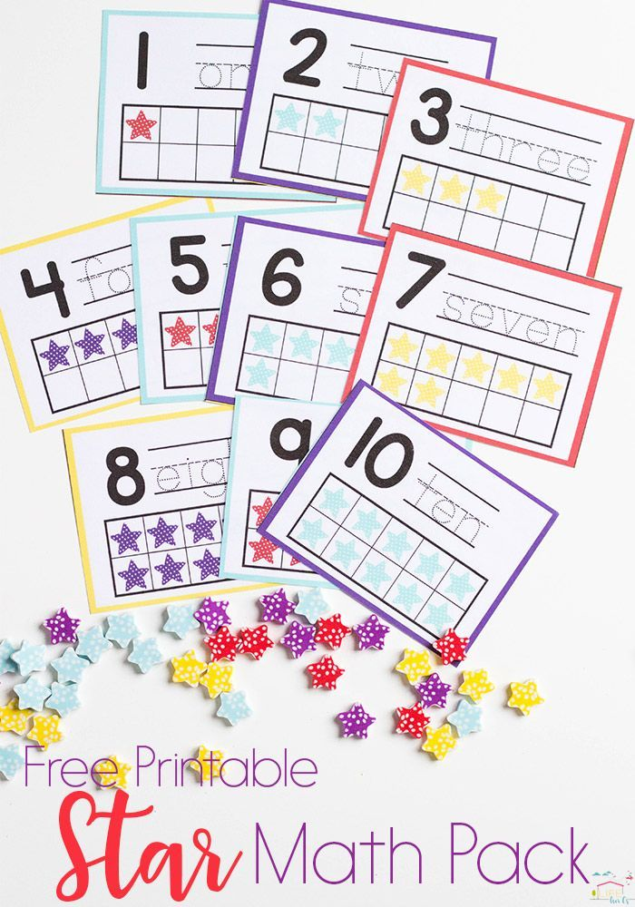Do you love Dollar Spot mini erasers? This star mini eraser activity pack for preschoolers is full of great math activities! Counting, sorting, matching, patterns and more! via @lifeovercs