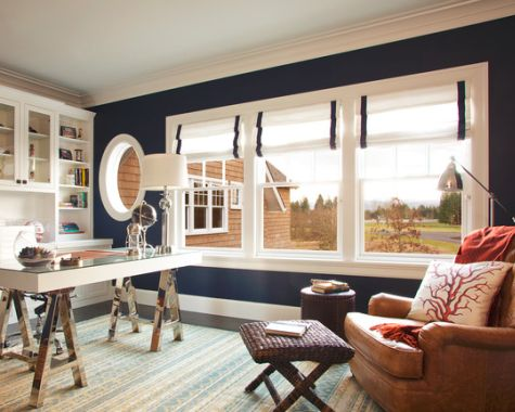 Navy Blue Walls Painted With Benjamin Moore Old Navy 2063