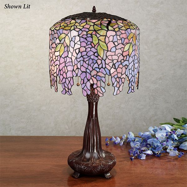Wisteria Stained Glass Table Lamp Stained Glass Table Lamps Wisteria Stained Glass Stained Glass Lamps