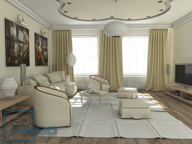 Living Room Sketchup Scene Free Download Model And 3d
