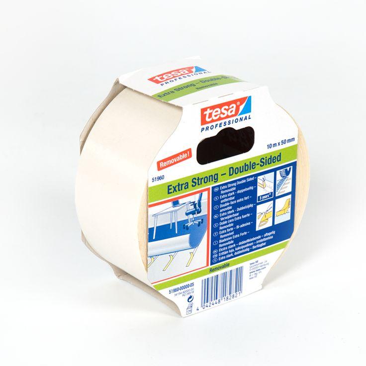 Cinta adhesiva dos caras removible Tesa - La cinta adhesiva de dos caras removible Tesa tiene un refuerzo especial para todo tipo de superfcies delicadas y no deja rastro.