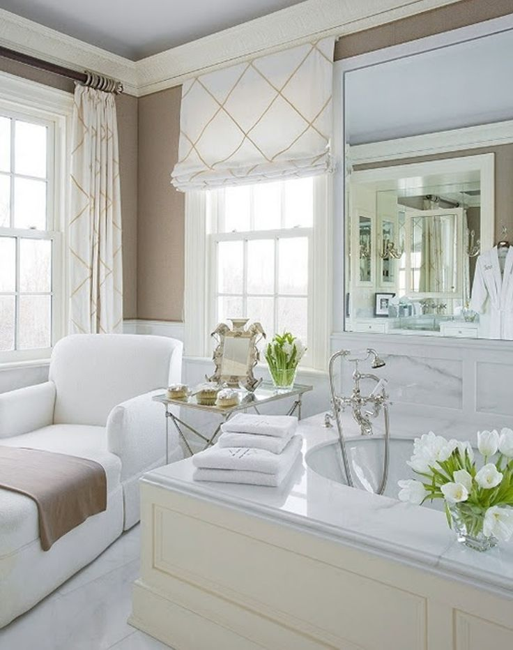 Best 25 bathroom window treatments ideas on pinterest for What type of blinds for bathroom