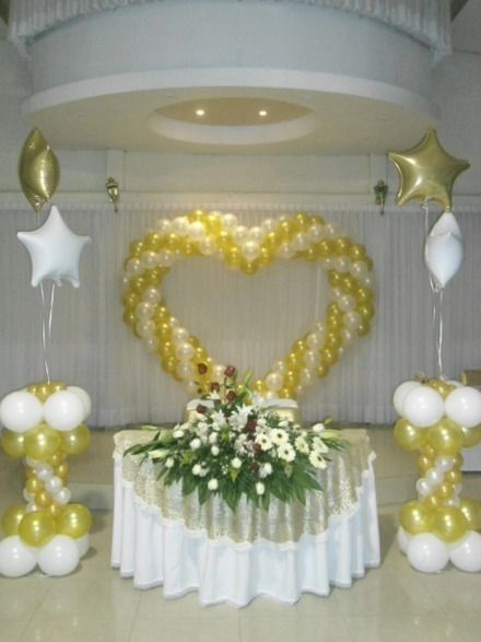 285 best images about balloon wedding for Decoracion simple con globos