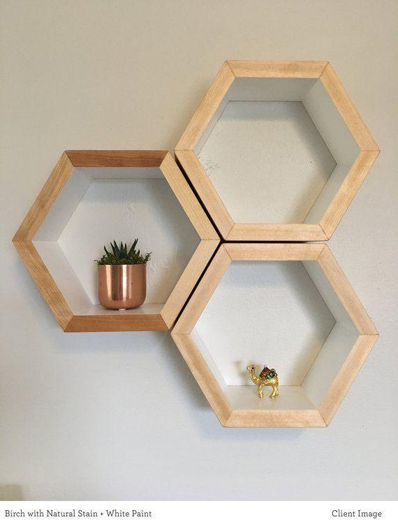 Mid Century Shelves Honeycomb Shelving Hexagon Wall Shelf