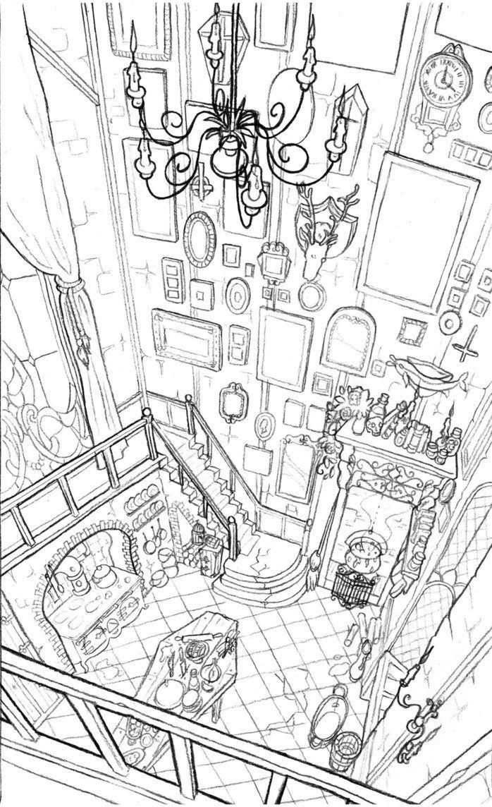 Morticia Addams Kitchen Buscar Con Google Perspective Art Art