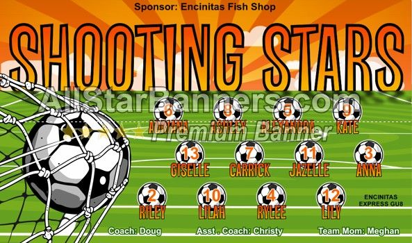 17 Best Images About Shooting Stars Soccer Banner On