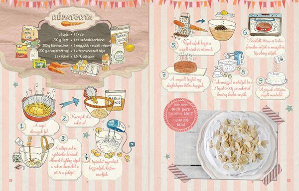Dalocska's bakery – Illustrated recipe book on Behance Carrot Cake #recipe #illustrated #illustration