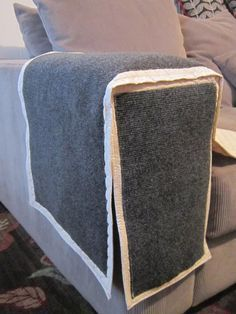 Items Similar To Cat Scratching Furniture Arm Protector Cream Scratch Able Couch Sofa Or Chair Cover Round Square