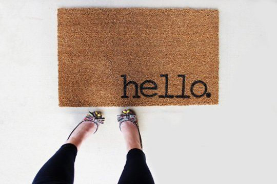 DIY personnaliser son paillasson hello