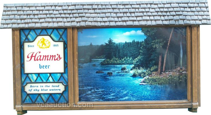 Hamm's Beer Light-Up Motion Sign