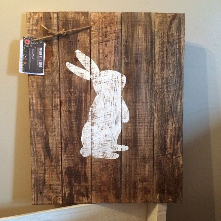 Easter Decor - Bunny Silhouette - Pallet Decor - Home Decor - Rustic Easter Decor by TaggedWithLove1 on Etsy https://www.etsy.com/listing/223949990/easter-decor-bunny-silhouette-pallet