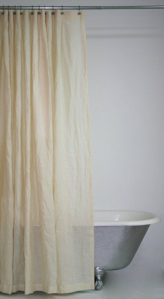 Alternatives to Vinyl Shower Curtain Liners ( and a Water-Repelling Tip ) | Apartment Therapy