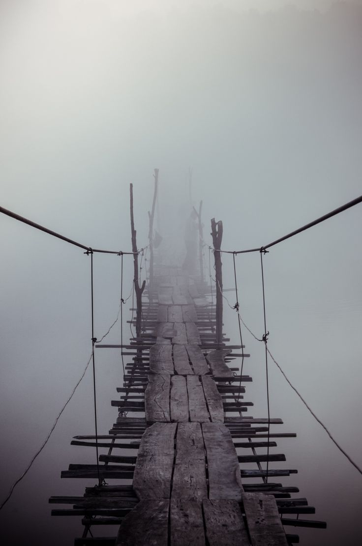 "Old bridge through the ""Yuzhniy Bug River"" Ukraine. Photograph - Foggy bridge. By Evgen Andruschenko on 500px"
