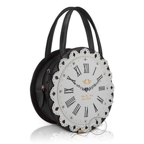 Clock Handbag   The Real Wool Shop