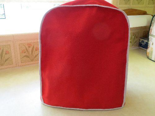 Cotton Magimix Cover Red Handmade. £24.99  www.fleecehatsbyjacaranda.co.uk   SOLD OUT