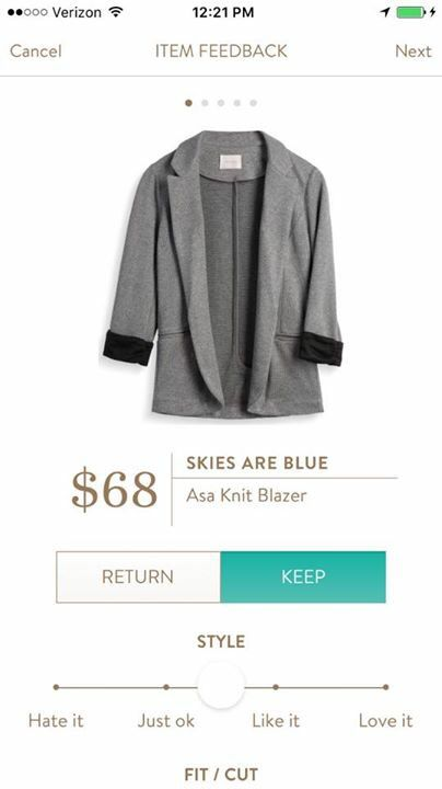 Stitch fix stylist, LOVE this! I have borrowed my cousin's for a few weeks and the small looks perfect on me!