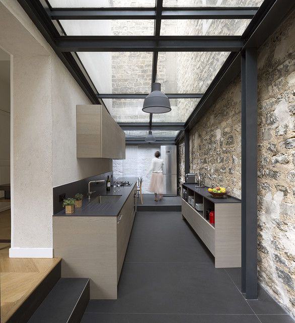 Extension de maison Paris modern-kitchen