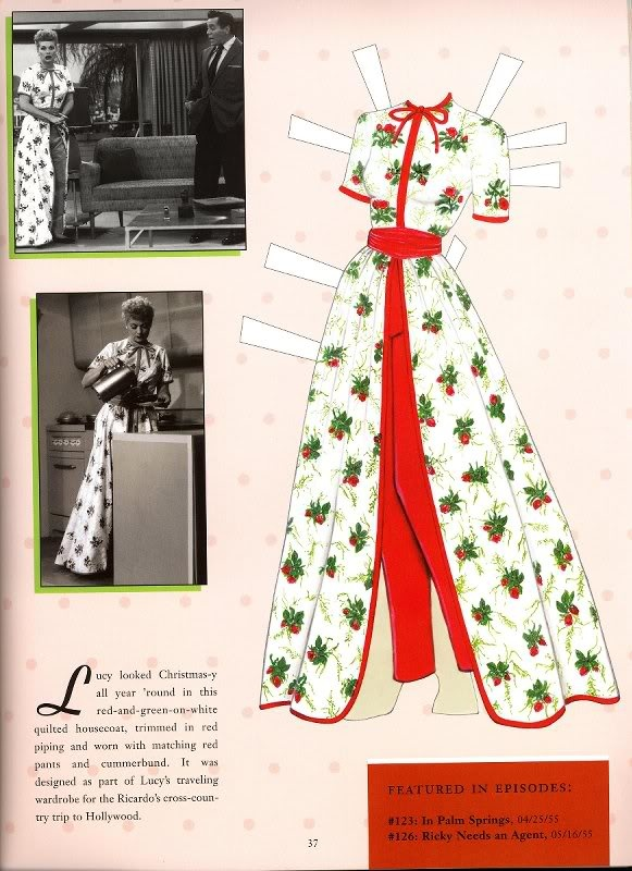"""""""I Love Lucy"""" paper dolls.  I actually have these!!!  I loved reading that a lot of the clothes were initial bought at Orbach's before the shows budget was big enough for a designer."""