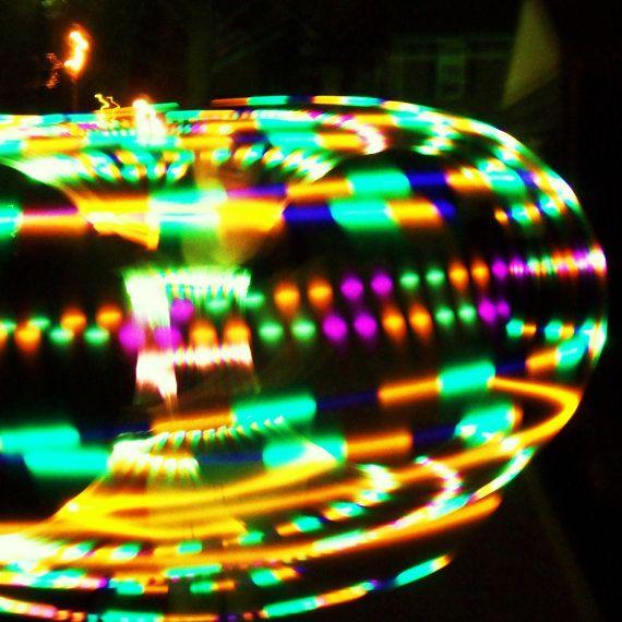 Hypnotic Strobe LED Hula Hoop on Etsy, $90.00