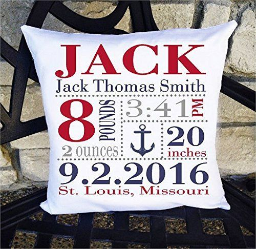 Wonderful keepsake for baby! This handmade birth announcement pillow can be personalized for your child or grandchild...comes with the pillow insert too! Find it here: http://amzn.to/2anZm8F