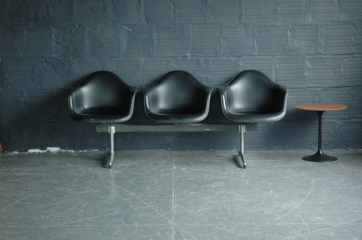 Charles and Ray Eames for Herman Miller Fiberglass Tandem Seating