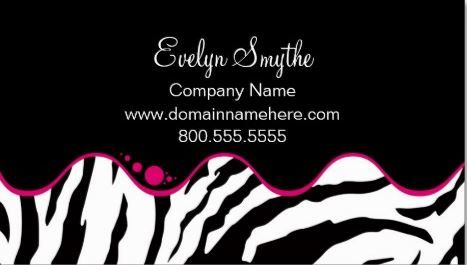 112 best girly animal print business cards images on pinterest fun zebra print modern fuchsia circle dots on wave stripe business cards http reheart Choice Image