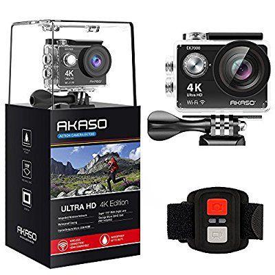 AKASO Waterproof Camcorder Rechargeable Kits Black