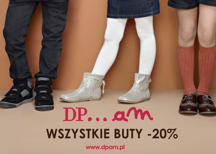 Jesienne buty -20%. O tej porze roku porządne buty to podstawa! Dlatego teraz od poniedziałku do niedzieli (18-24.11) w DPAM wszystkie jesienne buty 20% taniej.