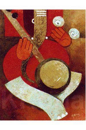 Ganesh 027         40cm x 30cm          Oil on Canvas