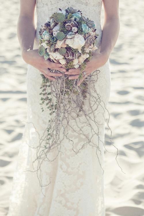 Shell Bouquet #wedding
