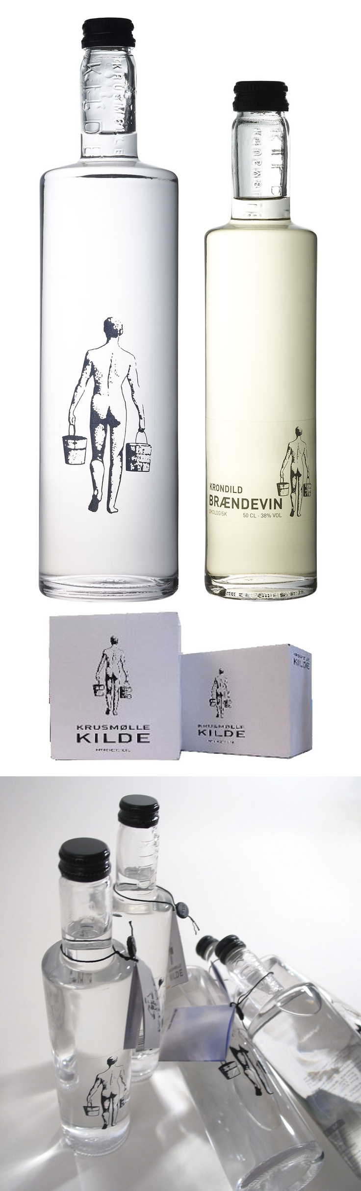 "Krusmølle Kilde Bottled Water from Denmark. Someone repinned this from my ""water"" board. I'd forgotten about it : ) PD"