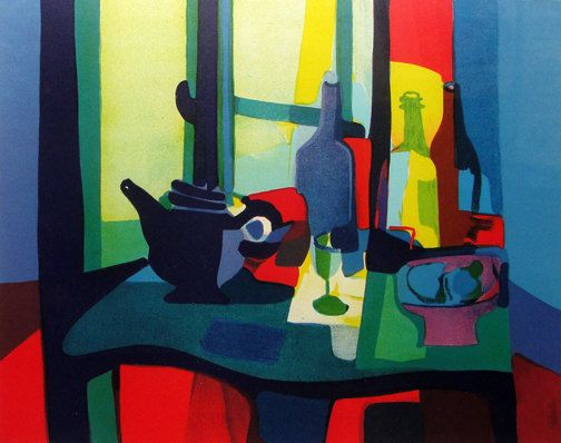 Marcel Mouly « Nature Mort Aux Bouteille » - S/N Lithographie -