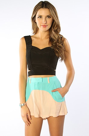 The One Song Short in Seafoam & Blush - $35.00