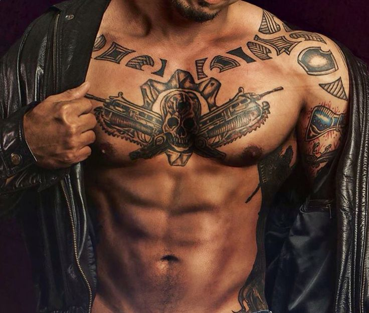 8 Best Chest Tattoo Images On Pinterest