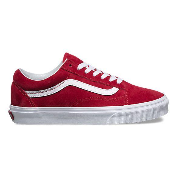 Pig Suede Old Skool   Red vans shoes