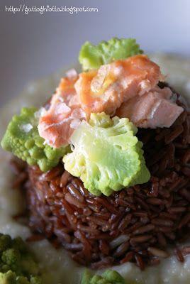 il gattoghiotto: Sformatini di riso thai rosso con salmone e broccolo romanesco…
