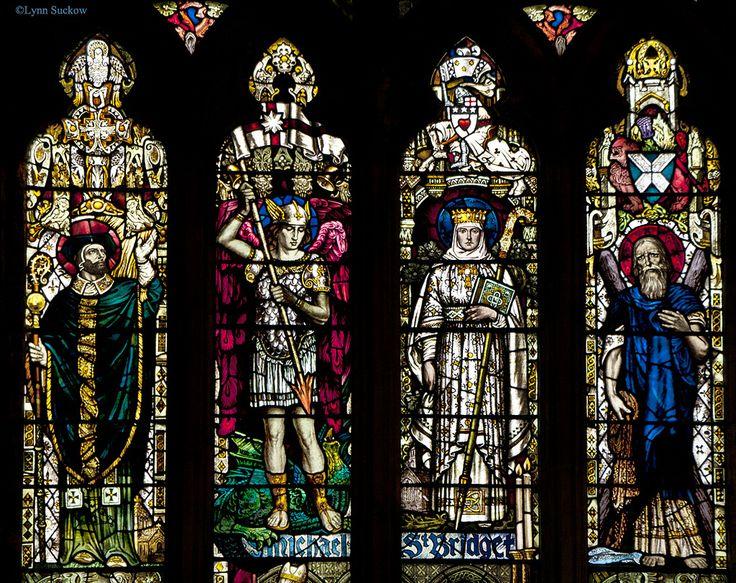 Saints Window, St Michael's Parish Church in Linlithgow, Scotland.